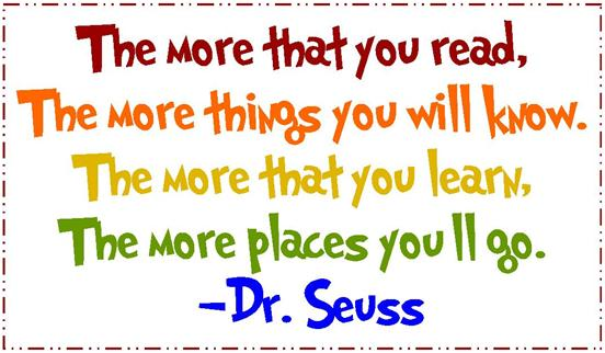 Image result for dr seuss reading quotes